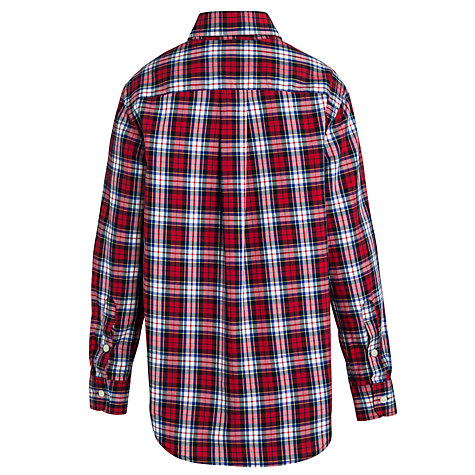 Buy Polo Ralph Lauren Boys' Long Sleeve Poplin Shirt, Red/Multi Online at johnlewis.com