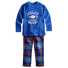 Buy Little Joule Chantry Pyjamas, Blue/Red Online at johnlewis.com