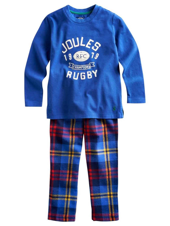 Little Joule Chantry Pyjamas, Blue/Red