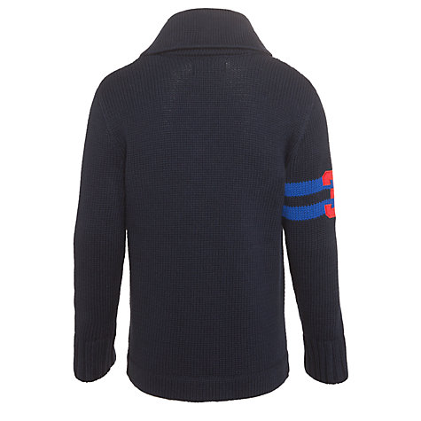 Buy Polo Ralph Lauren Boys' Shawl Neck Pony Cardigan, Navy Online at johnlewis.com