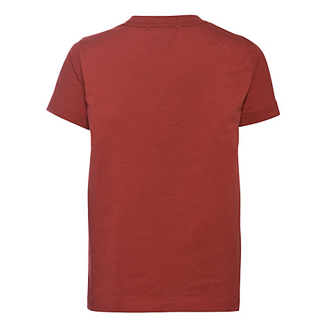 Buy Polo Ralph Lauren Boys' Eagle Motif Short Sleeve T-Shirt, Red Online at johnlewis.com