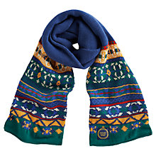 Buy Little Joule Junior Leon Fair Isle Scarf, Navy Online at johnlewis.com