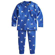 Buy Little Joule Raiden Dog Pyjamas, Blue/White Online at johnlewis.com