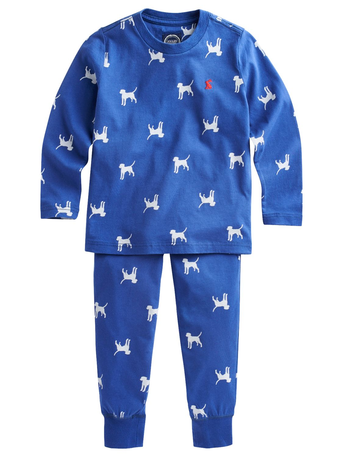 Little Joule Raiden Dog Pyjamas, Blue/White