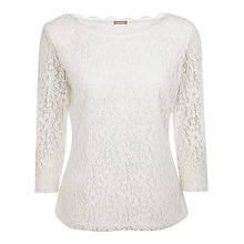 Buy Planet Scallop Edge Lace Top, Natural Online at johnlewis.com