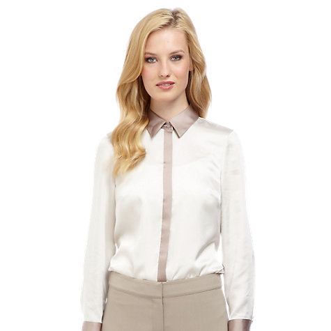 Buy Planet Contrast Blouse, Neutral Online at johnlewis.com