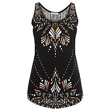 Buy Oasis Tribal Vest Top, Multi Black Online at johnlewis.com