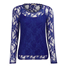 Buy Planet Lace Top, Blue Online at johnlewis.com