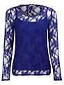 Planet Lace Top, Blue