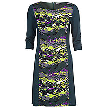 Buy Betty Barclay Print Tunic Panelling Dress, Green/Grey Online at johnlewis.com