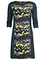 Buy Betty Barclay Print Tunic Panelling Dress, Green/Grey, 10 Online at johnlewis.com