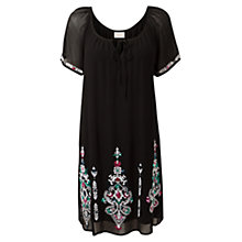 Buy East Ormolu Tunic Dress, Black Online at johnlewis.com