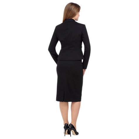 Buy Precis Petite Tailored Pencil Skirt, Black Online at johnlewis.com