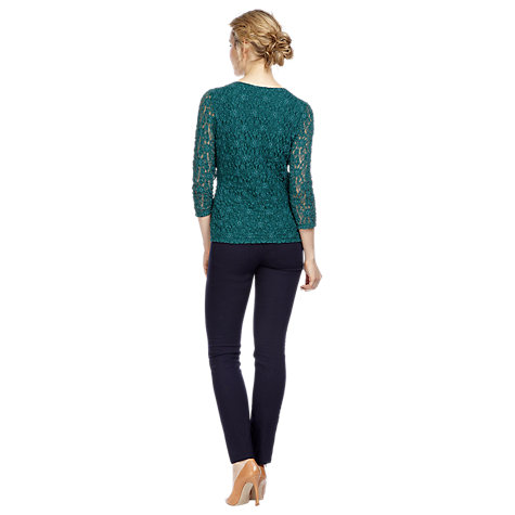 Buy Kaliko Lace Top, Green Online at johnlewis.com
