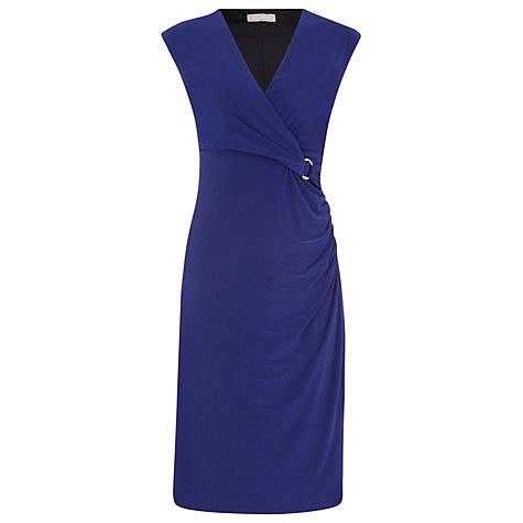 Buy Planet Gold Trim Jersey Dress, Blue Online at johnlewis.com
