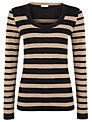 Planet Stripe Jumper, Brown