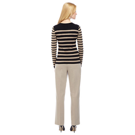 Buy Planet Stripe Jumper, Brown Online at johnlewis.com