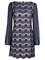 Planet Lace Tunic, Blue/Navy