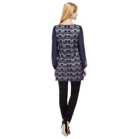 Buy Planet Lace Tunic, Blue/Navy Online at johnlewis.com