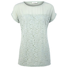 Buy Kaliko Lace T-Shirt, Light Green Online at johnlewis.com
