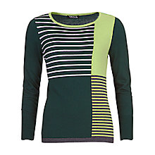 Buy Betty Barclay Striped Jumper, Dark Green Online at johnlewis.com