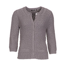 Buy Betty Barclay Knitted Cardigan, Grey Melange Online at johnlewis.com
