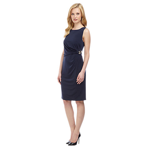 Buy Planet Brooch Detail Jersey Dress, Blue Online at johnlewis.com
