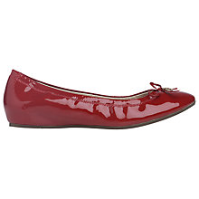 Buy L.K. Bennett Sukima Ballerina Pumps, Cerise Online at johnlewis.com