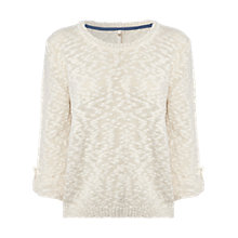 Buy White Stuff Lily Slubby Jumper, White Online at johnlewis.com