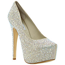 Buy Steve Madden Deeva SM Rhinestone Encrusted Platform Court Shoes, Champagne Online at johnlewis.com