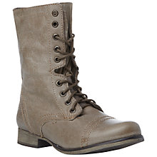 Buy Steve Madden Troopa Combat Calf Boots, Stone Online at johnlewis.com