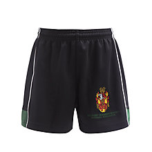 Buy Watford Boys' Grammar School Sports Shorts, Black/Green Online at johnlewis.com