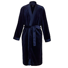 Buy Hugo Boss Velour Dressing Robe, Navy Online at johnlewis.com