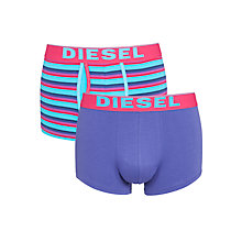 Buy Diesel 3 Pack Multi Tone Trunks, Turquoise/Multi Online at johnlewis.com