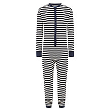 Buy John Lewis Striped Lightweight Onesie Online at johnlewis.com
