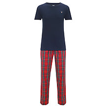 Buy Gant Cotton Pyjama Set, Blue/Red Online at johnlewis.com