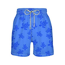 Buy Vilebrequin Turtle Print Swim Shorts, Blue Online at johnlewis.com