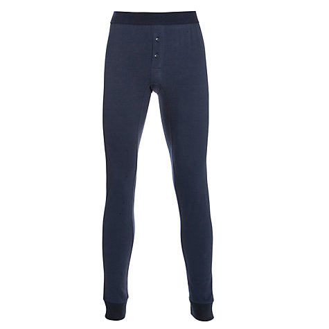 Buy John Lewis Long Johns, Navy Online at johnlewis.com