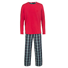 Buy Hugo Boss Plain and Check Pyjamas Set, Multi Online at johnlewis.com