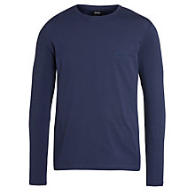 Buy BOSS Long Sleeve T-Shirt, Navy Online at johnlewis.com
