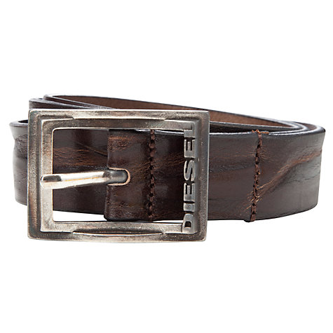 Buy Diesel Binsigne Cintura Belt, Brown Online at johnlewis.com