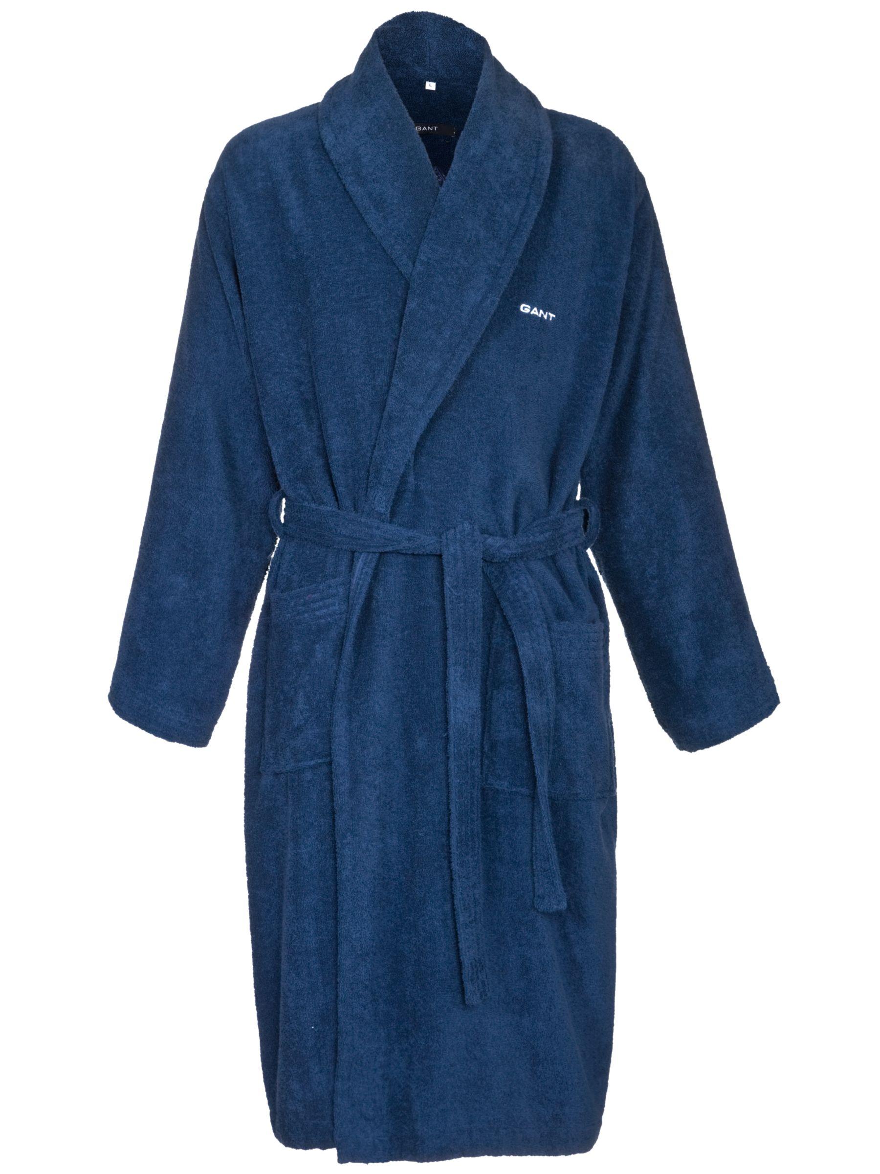 Gant Plain Fleece Robe, Blue