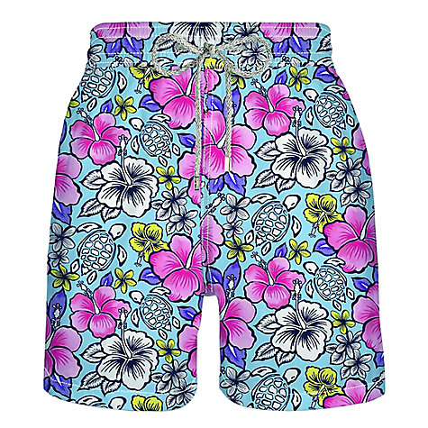 Buy Vilebrequin Floral Print Swim Shorts, Blue/Pink/Yellow Online at johnlewis.com
