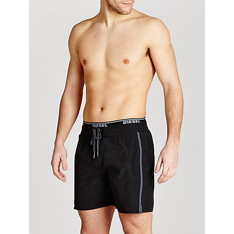 Buy Diesel Sparrow Plain Swim Shorts, Black Online at johnlewis.com