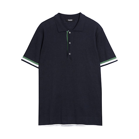 Buy Farhi by Nicole Farhi Contrast Stripe Polo Shirt Online at johnlewis.com
