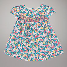 Buy John Lewis Baby Meadow Flower Smocked Dress, Multi Online at johnlewis.com