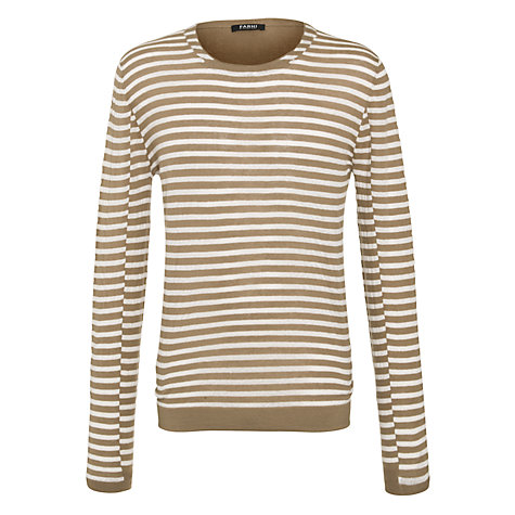 Buy Farhi by Nicole Farhi Stripe Crew Neck T-Shirt Online at johnlewis.com