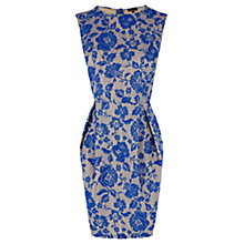 Buy Warehouse Lace Lantern Dress, Bright Blue Online at johnlewis.com