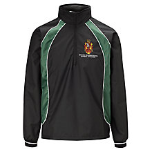 Buy Watford Boys' Grammar School Tracksuit Top, Black/Green Online at johnlewis.com