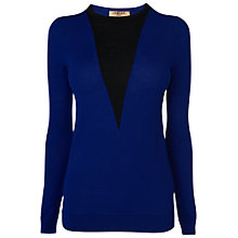Buy Jaeger V Insert Jumper, Bright Blue Online at johnlewis.com